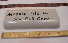 "1 pc. Vintage *Sea-Gull-Gray* Ceramic Tile 2"" X 6"" Radius Bullnose by Mosaic Co"