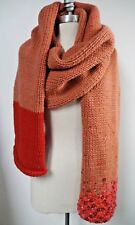 DRIES VAN NOTEN chunky wool sequin embellished long huge scarf shawl wrap