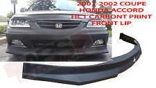 2001 2002 HONDA ACCORD COUPE SEDAN HC1 STYLE FRONT BUMPER LIP CARBON PRINT NONV6