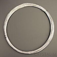 3 m Silberdraht (echt); 925 Silber; Strickdraht 0,4 mm