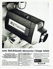 Publicité Advertising 107  1965  Bell & Howell caméra Super 8  autoload