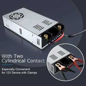 AC 220V auf DC12V Schaltnetzteil Transformator Konverter Adapter 50A 600W DE Neu