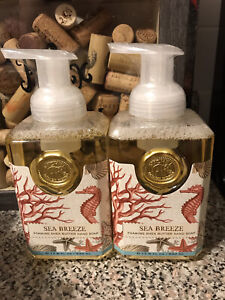 2 Michel DW SEA BREEZE Foaming Shea Butter Hand Soap 17.8 oz LOT OF 2 BOTTLES