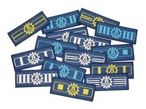 Rangabzeichen THW Technisches Hilfswerk gewebt mit Klett