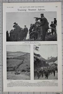1900 PRINT TRAINING SEAMEN ASHORE SAILORS DEFENCE OF WEYMOUTH NAVAL BRIGADE