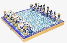 Chess Set Russian Matryoshka Gzhel Handmade & Hand-Painted NEW