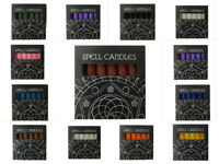 Spell Candles 6 Magic Casting Pagan Altar Table Witch Red Blue Pink 10.5 x 1.7cm
