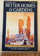 Better Homes and Gardens October 1933 flowers gardening beautiful