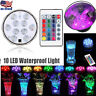 Remote Controlled RGB Submersible LED Lights Color Changing Battery Operated USA