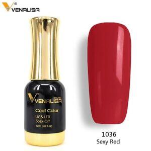 Venalisa Soak Off LED UV Long Lasting Super Shiny Gel Nail Polish Sexy Red 12ml