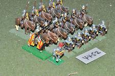 25mm medieval retinue 6 infantry 11 cavalry (4452) metal painted