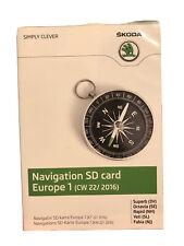 sd navigatore skoda Europa 2016