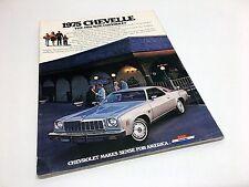 1975 Chevrolet Chevelle Malibu Laguna Type S-3 Malibu Classic Brochure USA