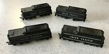 4 - Vintage HO Scale Train Cars - Union Pacific Coal Tender -  Mantua Train