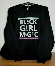 BLACK GIRL MAGIC  Long Sleeve Sweatshirt  5XL, Black