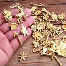 Pendants 20Pcs Mixed Christmas Snowman Snowflake Charms Jewelry Making Accessory
