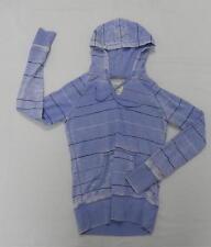 Billabong Women Sweater Fleece jacket Purple Striped Hood