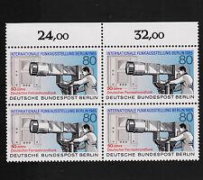 1985 germany Berlin Sc#9N503 Mi#741 Numeral Margin Block Mint Never Hinged