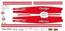 Dick Landy Flyin Wedge 1969 Dodge Charger 1/24th Decals nhra