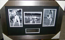 IAN AND GREG CHAPPELL SIGNED & FRAMED PHOTO COLLAGE