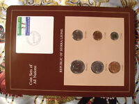 Coin Sets of All Nations Sierra Leone UNC 1/2,1,50 cents 1980 5,10,20 cents 1984