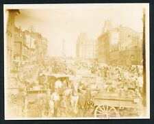 1899 BONSECOURS OUTDOOR MARKET, MONTREAL  Vintage Photo BEAUTY!