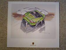 2000 Porsche 911 C4 Cabriolet Design Showroom Advertising Poster RARE!! Awesome
