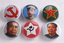 Chinese Communist Party Mao Zhu Zhou Enlai Jiangxi Soviet Button Lot Badge Medal