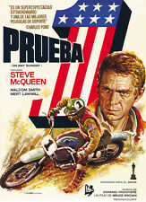 On Any Sunday (1971) Steve McQueen cult Bikers movie poster print