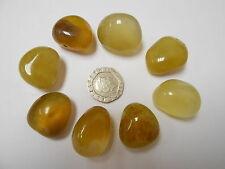 Agate, Yellow Crystal Healing Tumblestone - Self-Esteem, Depression, Detoxify.
