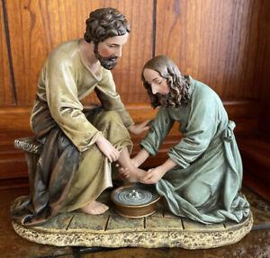 Jesus Washing His Disciple's Feet Figurine Statue Religious Christianity 2004
