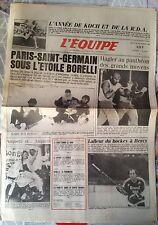 L'Equipe Journal 26/12/1985; L'année de Koch et RDA/ PSG, Borelli/ Hagler