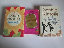 SOPHIE KINSELLA LOT 3 BOOKS Confessions of Shopaholic Wedding Night Remember Me
