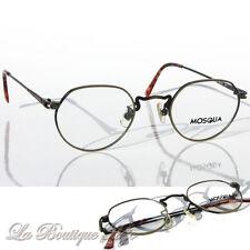 vintage MOSQUA Brille 2011 Antik-Silber, Schwarz, Eyeglasses Frames Lunettes NOS