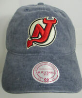 New Jersey Devils Hat NHL Strapback Mitchell & Ness Denim Fade