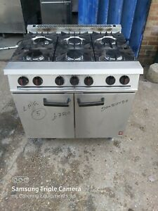 Falcon 6 burners LPG commercial cooker with oven for restaurants and catering