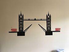 Londra Tower Bridge Wall Art Adesivo Camera Da Letto kitcen salotto per bambini 1300 mm