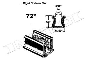 """Rigid Division-Bar Channel, 72"""" L, Fits:1940-1960 Buick, Cadillac and many more"""
