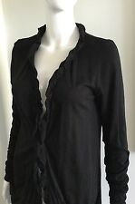 New INC International Concepts Women's Ruffled Cardigan Black Size S