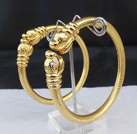 Indian Bollywood Bridal Golden Bracelet Set Ethnic Fashion Bangles Jewelry 2.6*