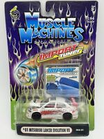 MUSCLE MACHINES '01 MITSUBISHI LANCER EVO IMPORT TUNER 1:64 Scale FREE SHIPPING