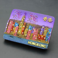 Hong Kong Night Scene Travel Souvenir Gift 3D Resin Fridge Magnet
