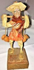 +Vintage Figurine Old Man Carrying Water