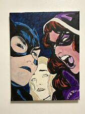 Birds Of Prey Black Canary Batgirl Huntress Signed Fan Art Hand Painted Dc Comic Ebay