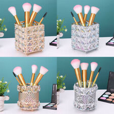 Makeup Brush Storage Tube Eyebrow Pen Organizer Holder Crystal Jewelry Container
