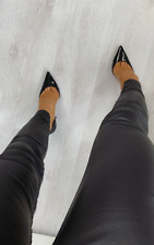 IKRUSH Kara Coated Skinny Jeans   Black UK 8