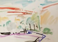 "JOSE TRUJILLO ORIGINAL Watercolor Painting American Fauvist 9X12"" COA Plein Air"