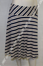 M&S Per Una Ladies Striped Flippy A-Line Skirt Navy Mix Size 8 12 14 16 20 22