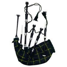 Great Scottish Highland Bagpipe Black Silver Mounts Bagpipes Dudelsack Gaita Gordon