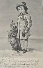 """Natale, Bambini, Cestino, Albero natale, Lanterna"" 1903 (18315)"